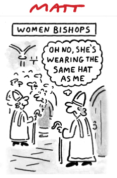 women bishops Matt Daily telegraph