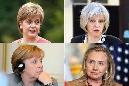 Nicola-Sturgeon-Theresa-May-Angela-Merkel-Hillary-Clinton